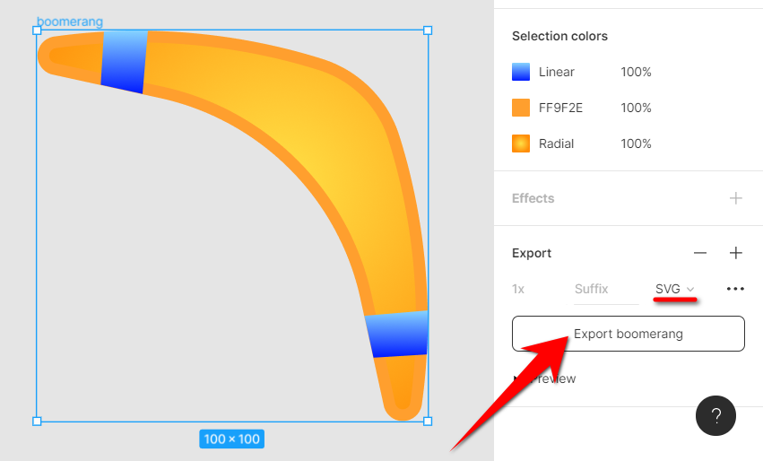 Export to SVG in Figma