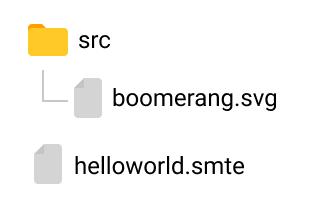 Folder structure – all SVG assets should be placed into src folder